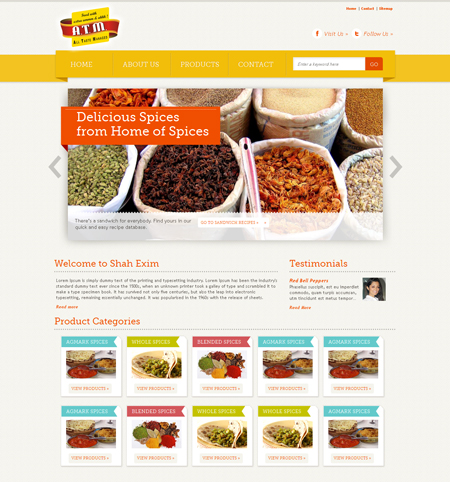Food / Indian Spices Website