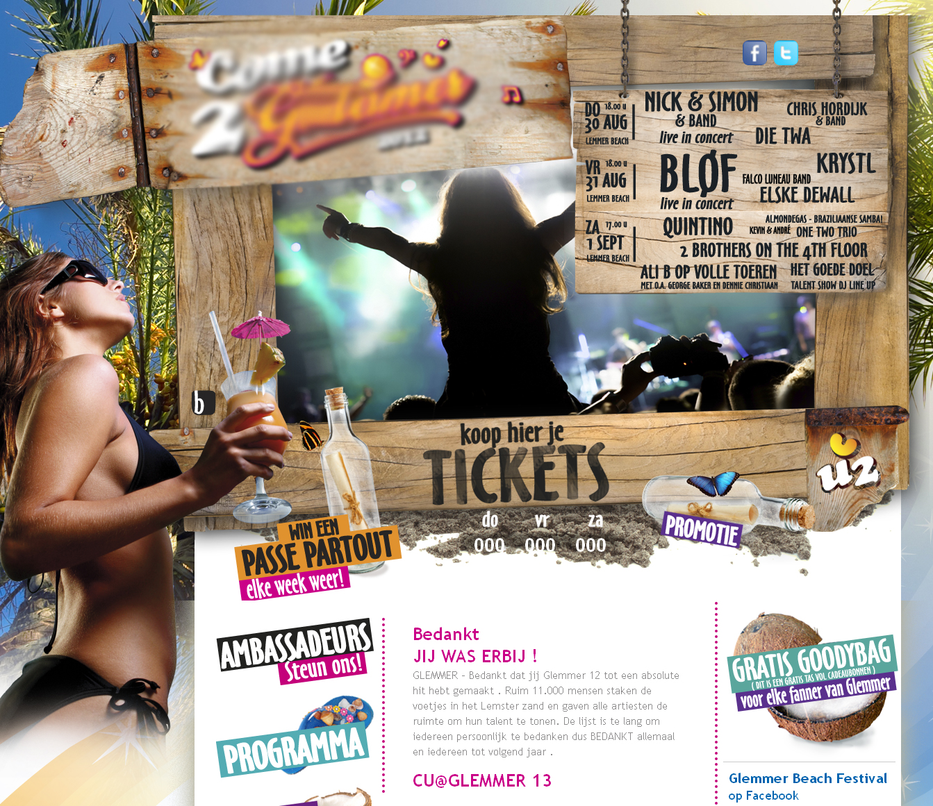 Music / Event / Ticket Booking Website