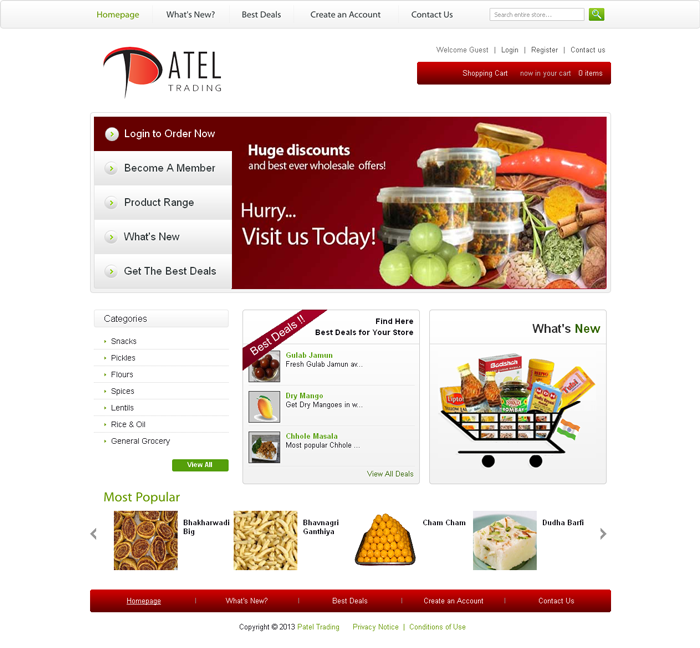 Grocery Store & Shopping Cart Website